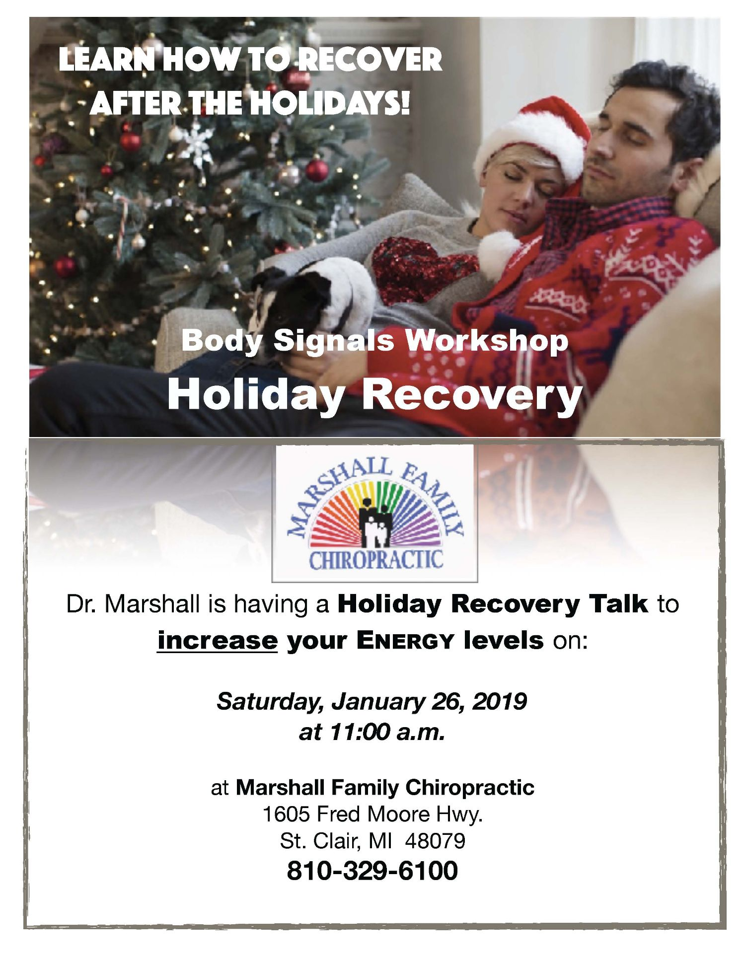 Holiday Recovery Talk